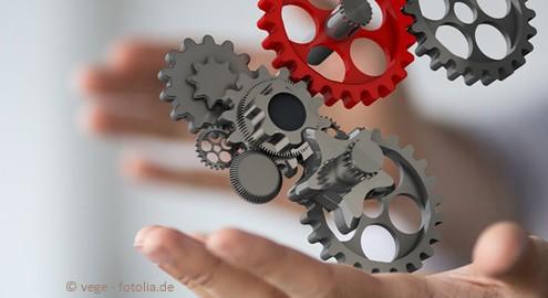 Content Management System: Vernetzung verschiedener Aufgaben und Dienste.