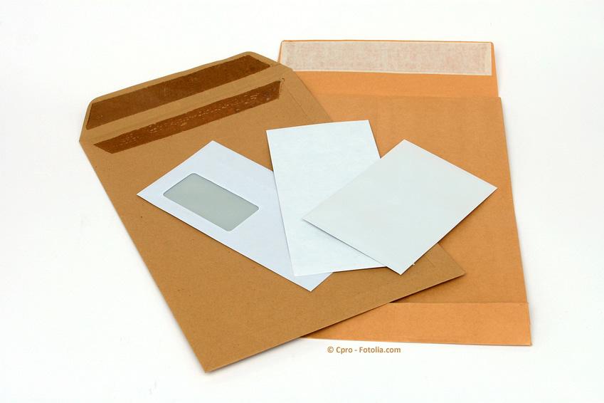 Dokukumententaschen verschiedene Formate für die Post
