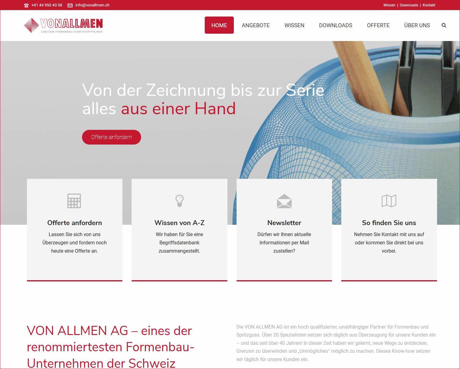 Formenbau Rapid Prototyping, Spritzgiessen - made im Zürcher Oberland